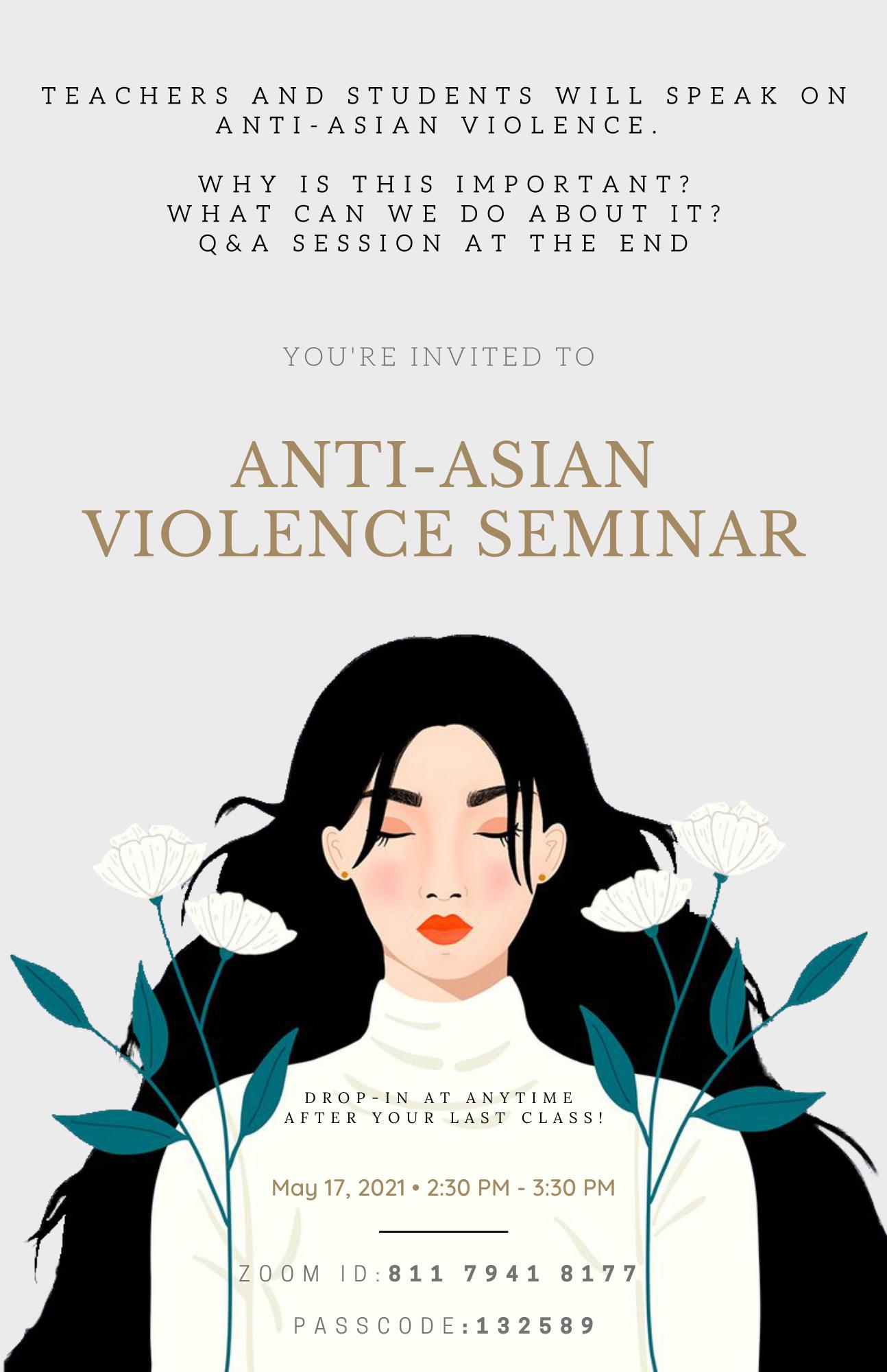 Anti-Asian Violence English Flyer